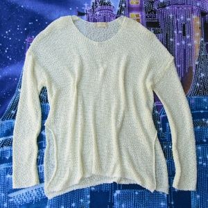 Altar'd State M white boxy sweater pullover top